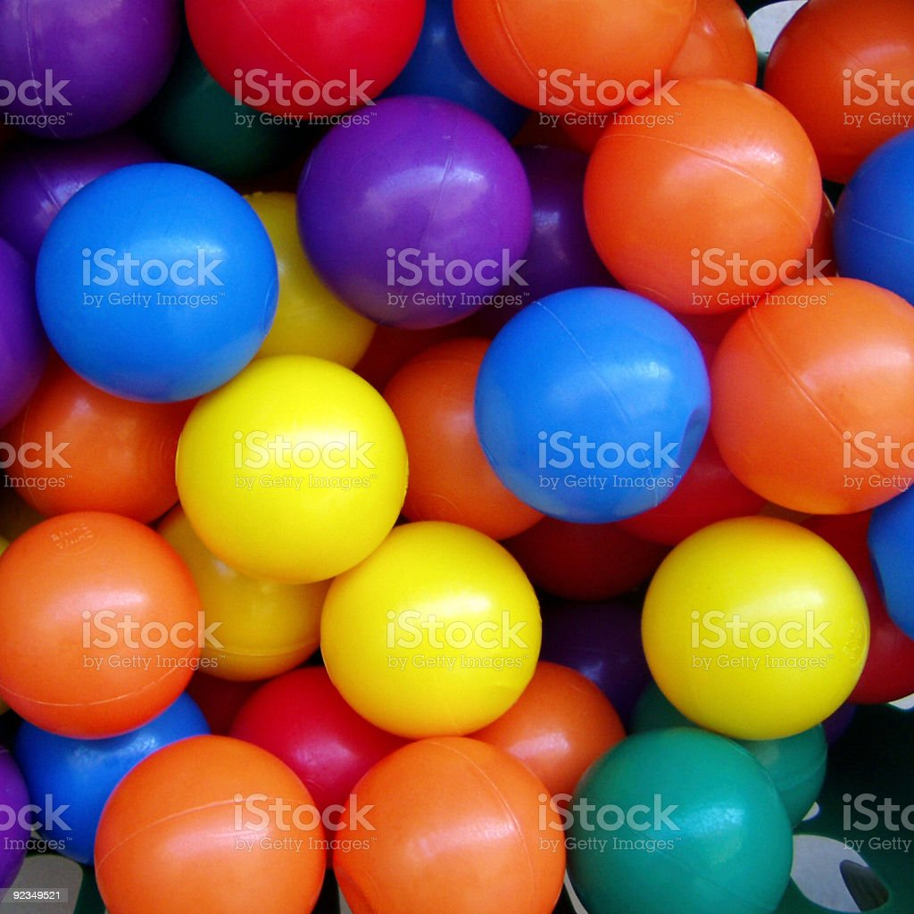 Squared colorfull balls background royalty-free stock photo