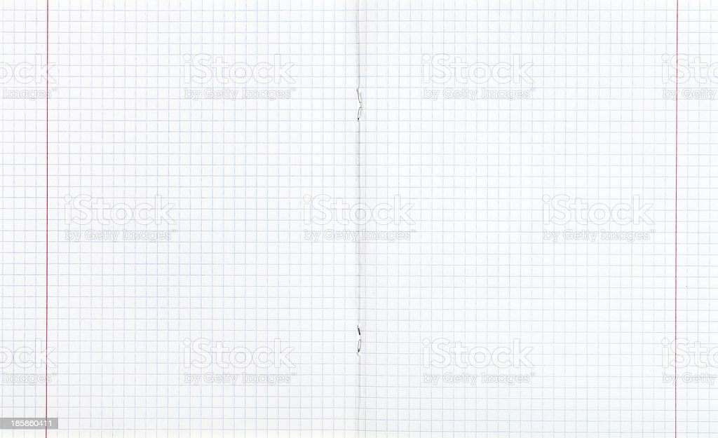 squared double-page spread with red margin royalty-free stock photo