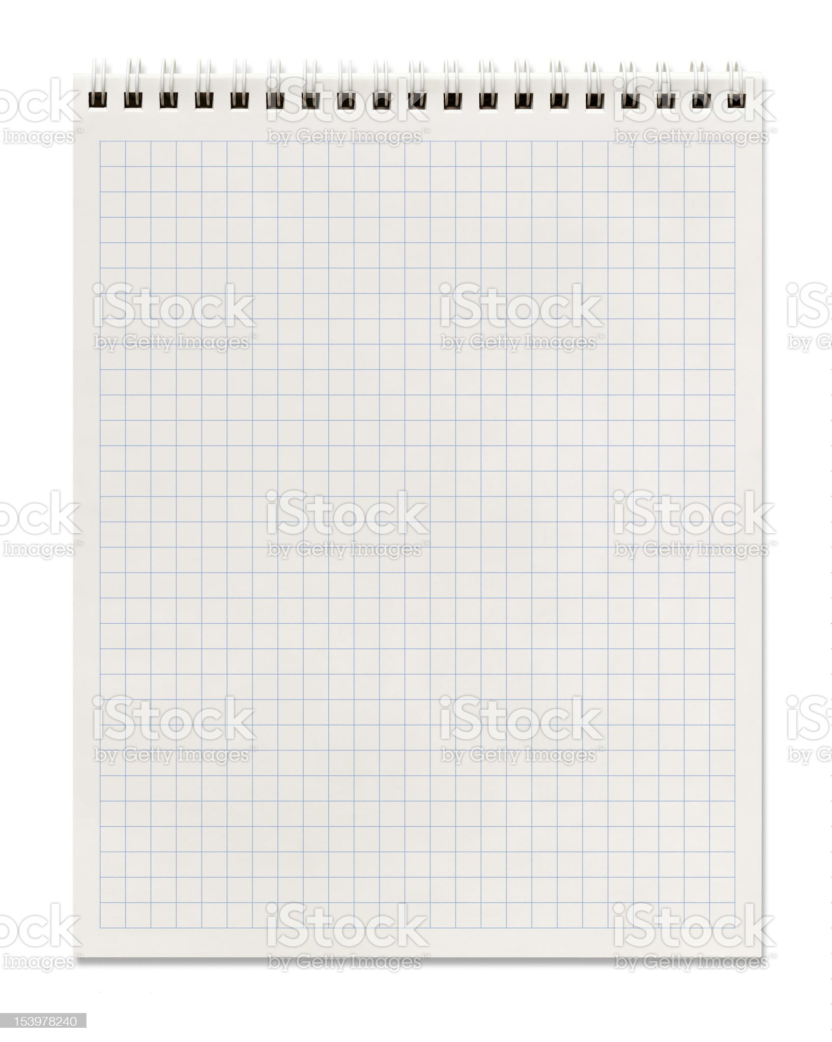 squared spiral notebook royalty-free stock photo