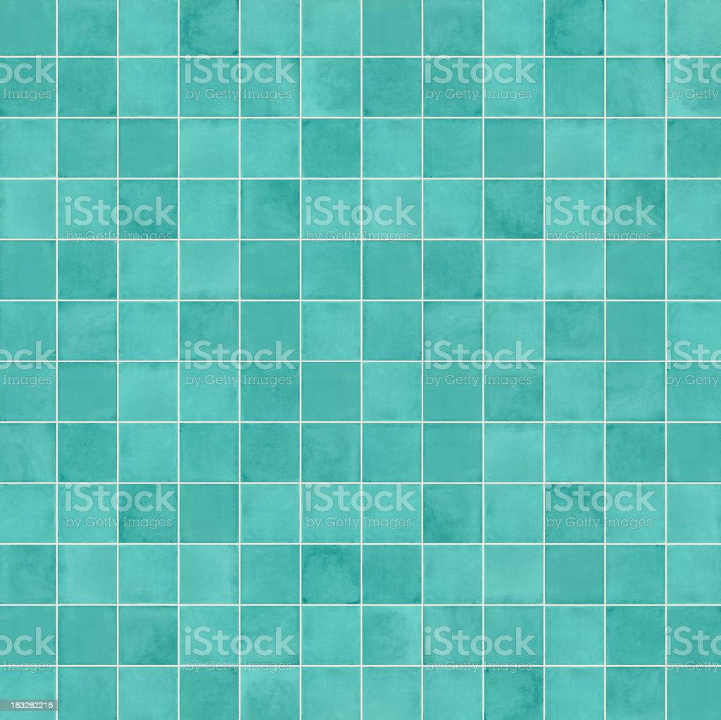 Squares in different shades of aqua blue stock photo
