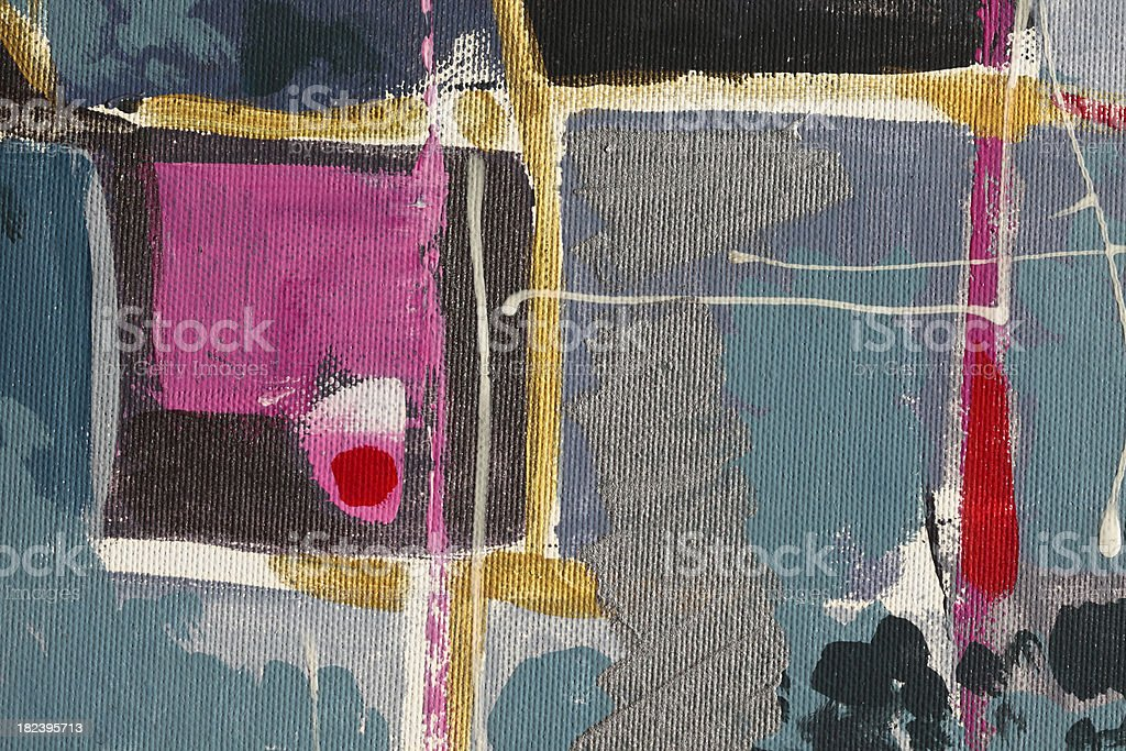 Squares: oil on canvas stock photo