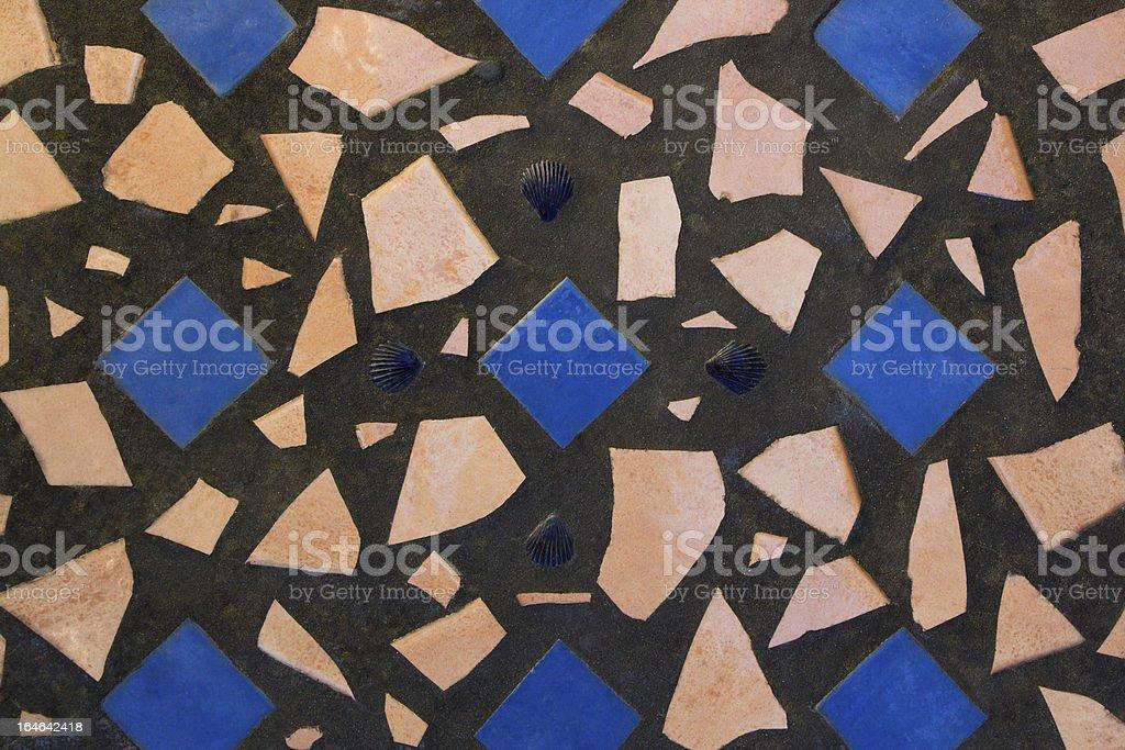 Squares & Shells royalty-free stock photo
