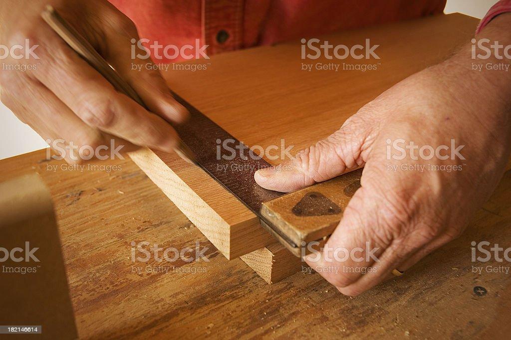 Squaring a Board royalty-free stock photo
