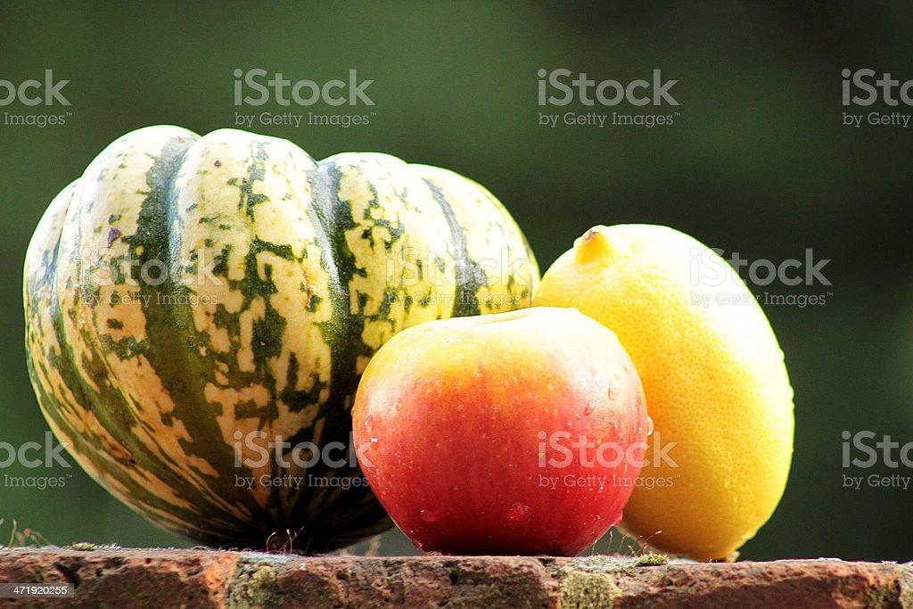 Squash, Apple e limone foto stock royalty-free
