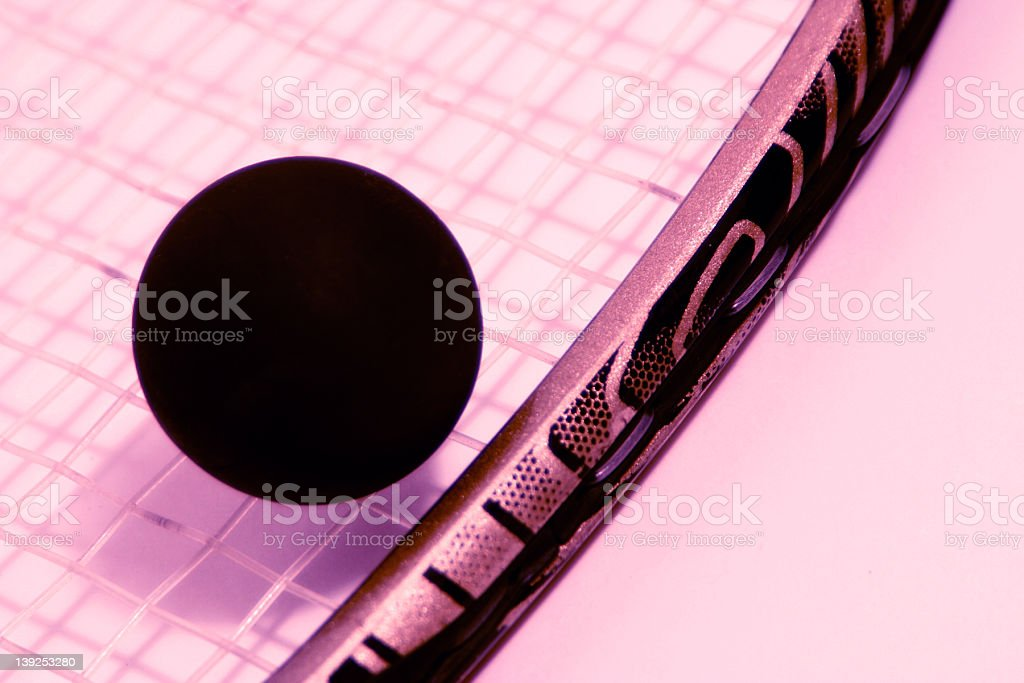 Squash Ball and Racquet royalty-free stock photo