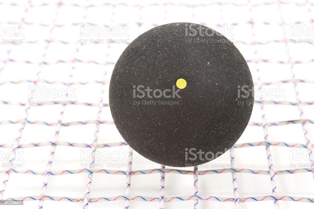 Squash Ball On Racket royalty-free stock photo