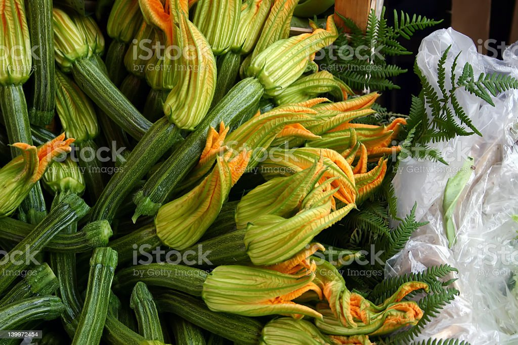 Squash Blossoms, Rome, Italy royalty-free stock photo