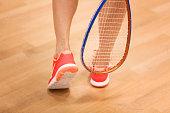 squash concept with beutiful female legs