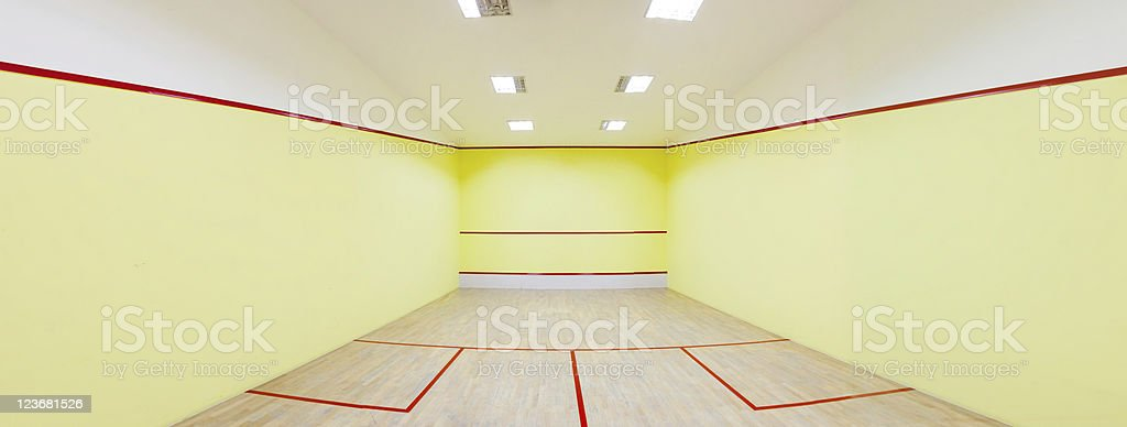 Squash court royalty-free stock photo