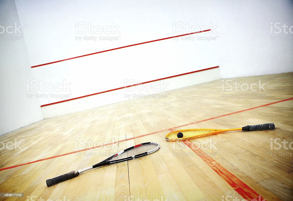Squash game background. stock photo