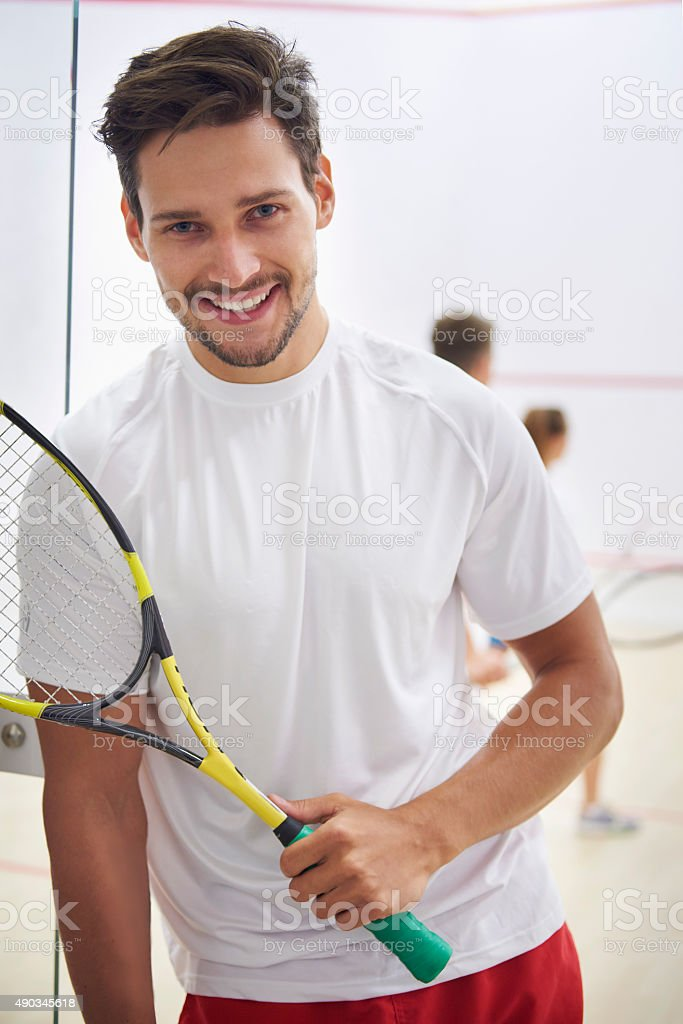 Squash is my big hobby stock photo