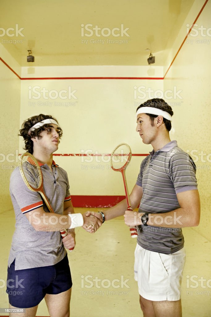 Squash match royalty-free stock photo