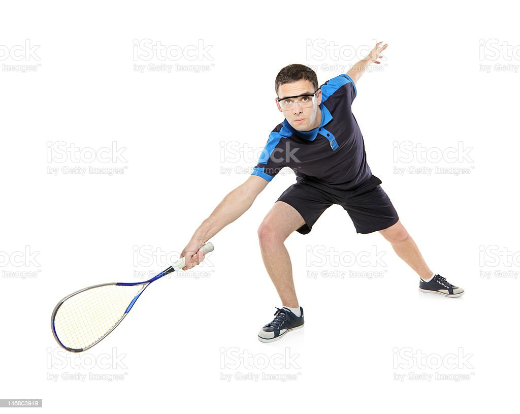 Squash player royalty-free stock photo