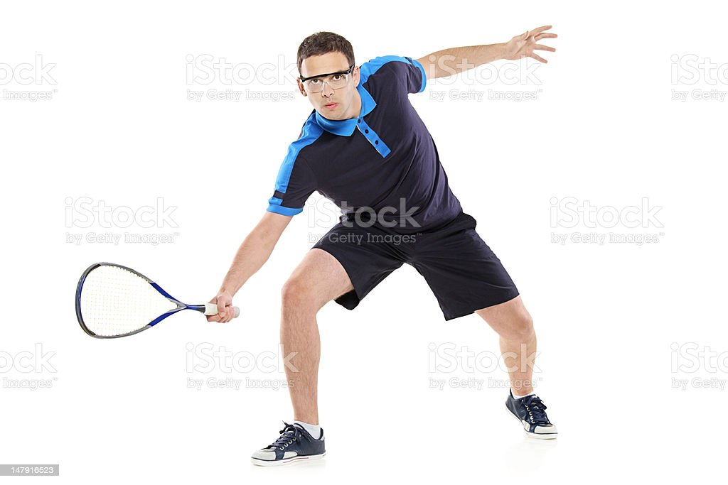 Squash player royalty-free stock photo