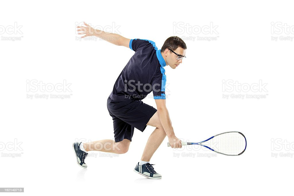 Squash player playing stock photo