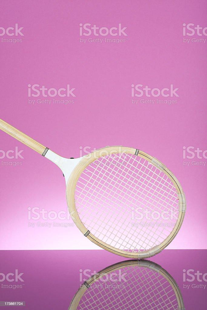 Squash racket on pink royalty-free stock photo