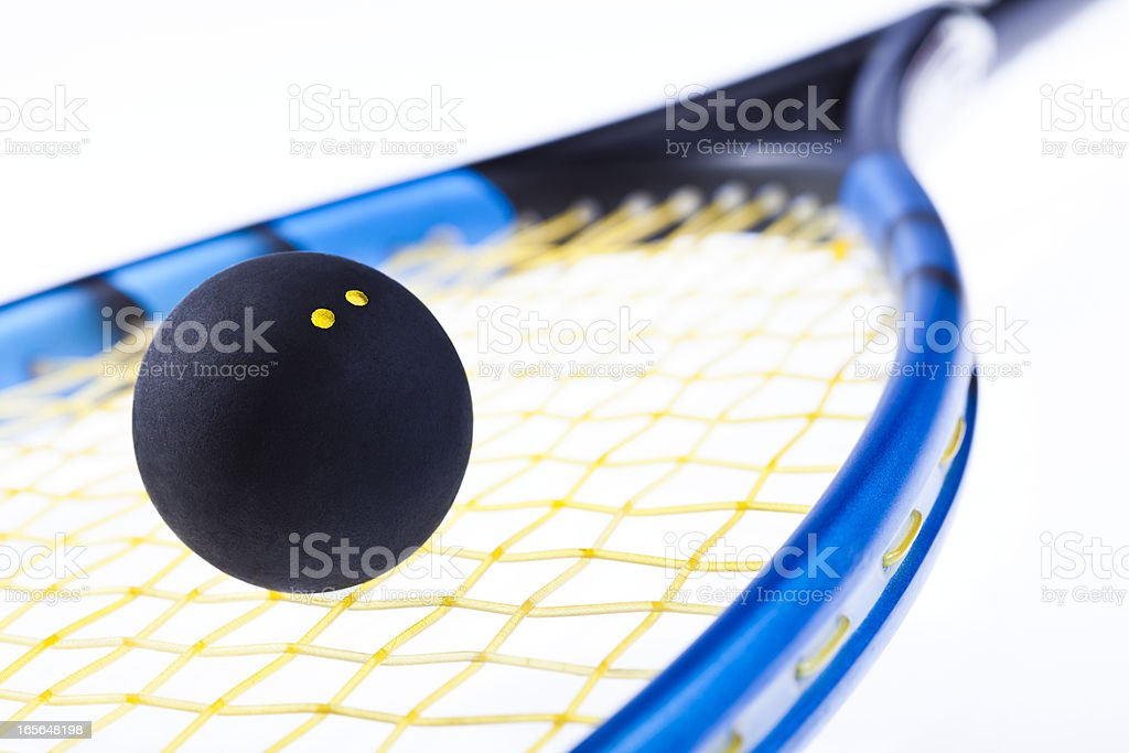 Squash racquetball and racket royalty-free stock photo