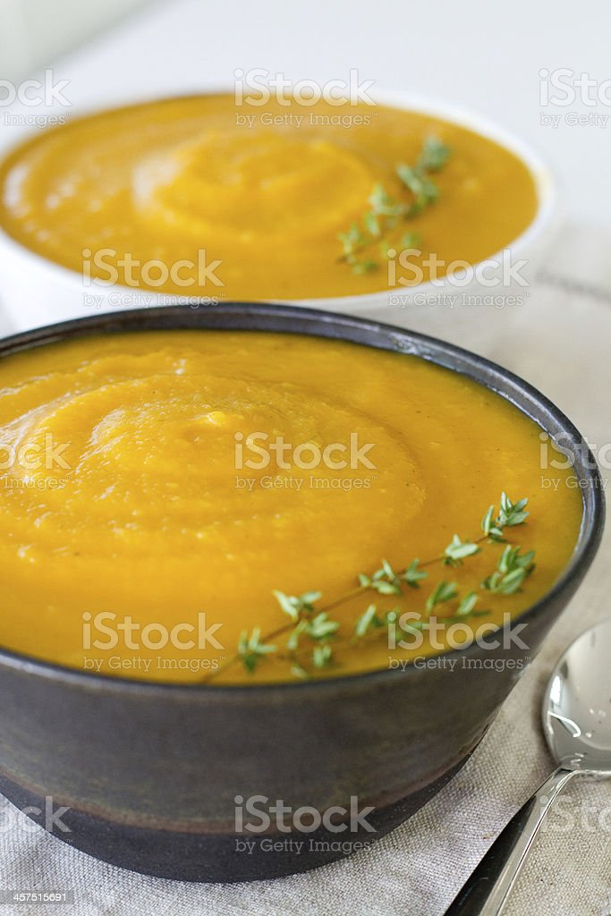 Squash Soup Eyelevel stock photo
