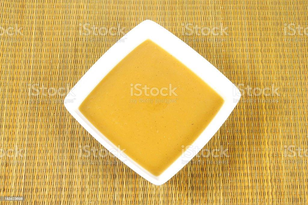 squash soup stock photo