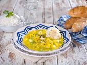 Squash Stew, Locro de Zapallo, a typical Peruvian dish