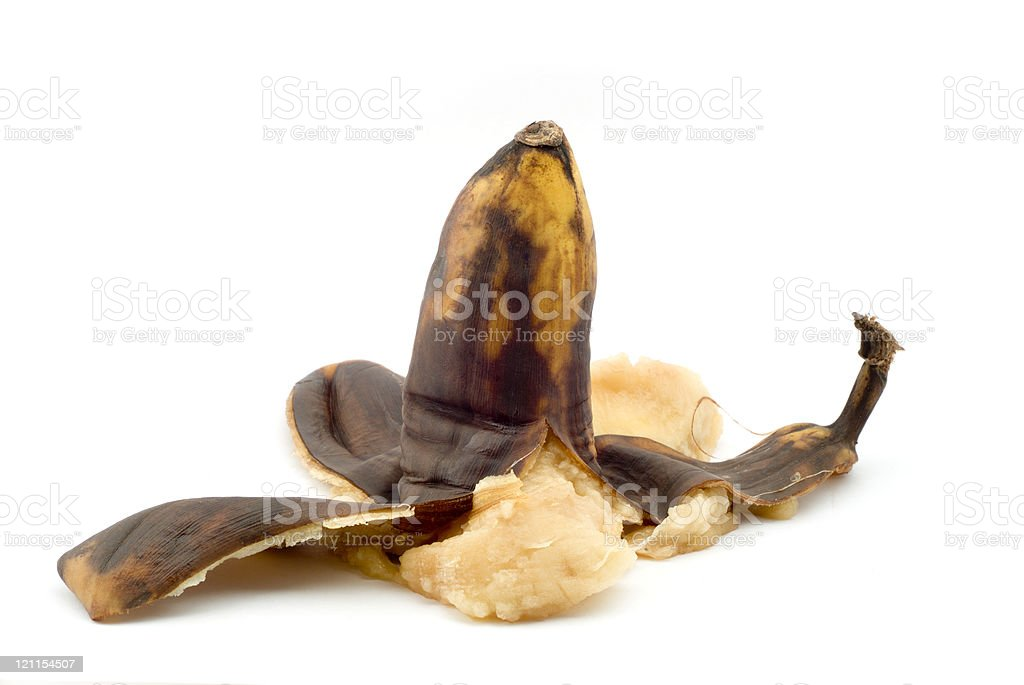 Squashed Ripe Banana stock photo