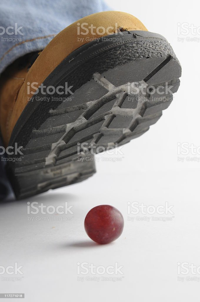 squashing a grape royalty-free stock photo