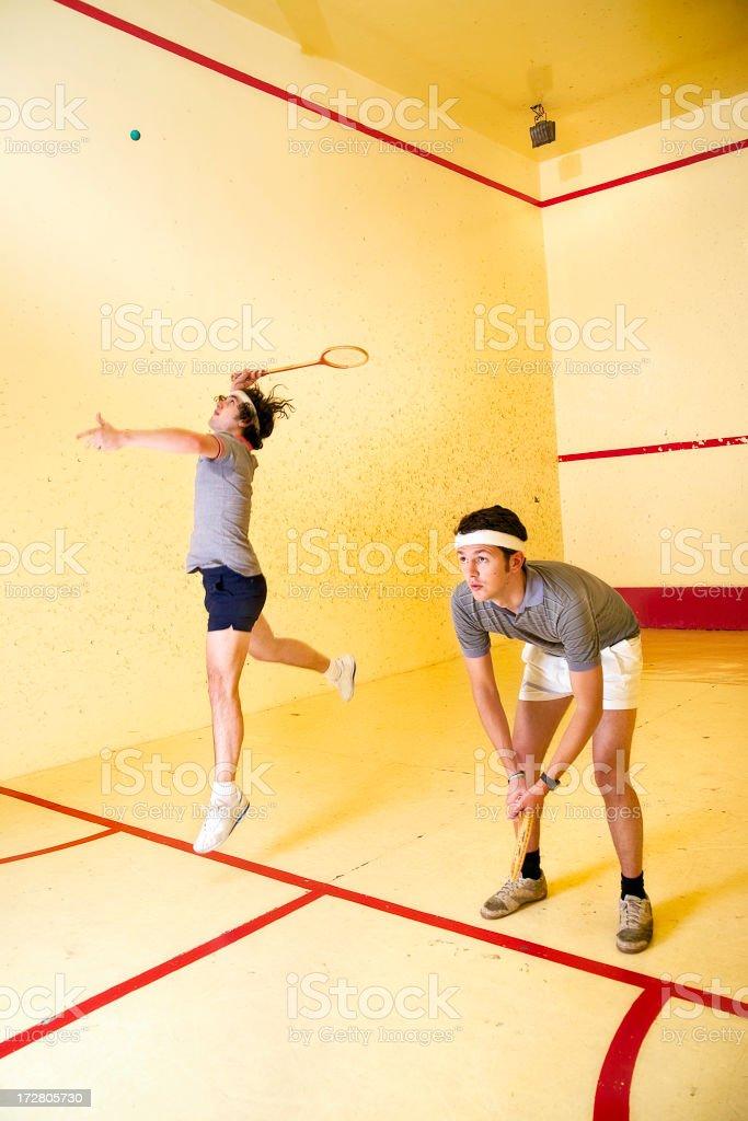 Squash-ing royalty-free stock photo