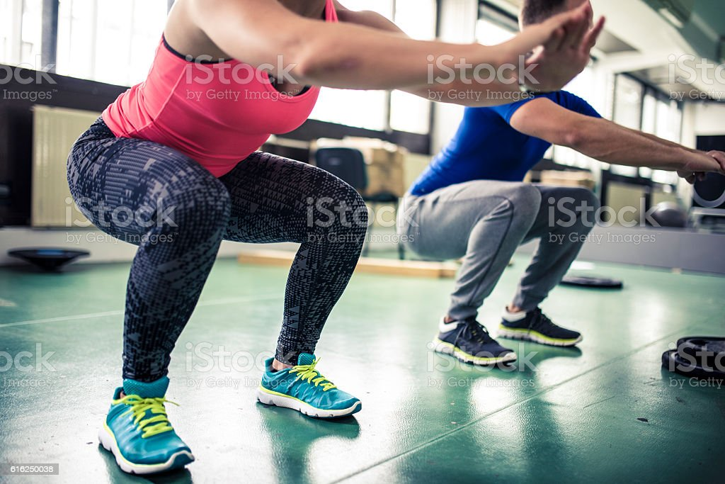 Squat everyday stock photo