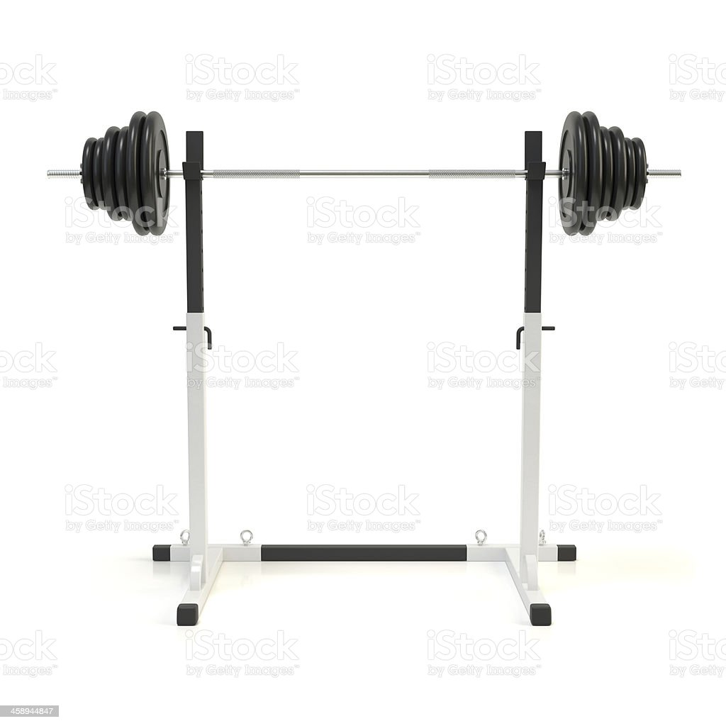 Squat rack stock photo
