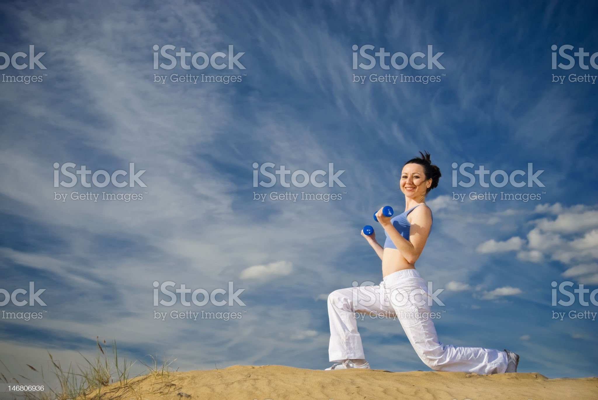 squats with dumbbells royalty-free stock photo
