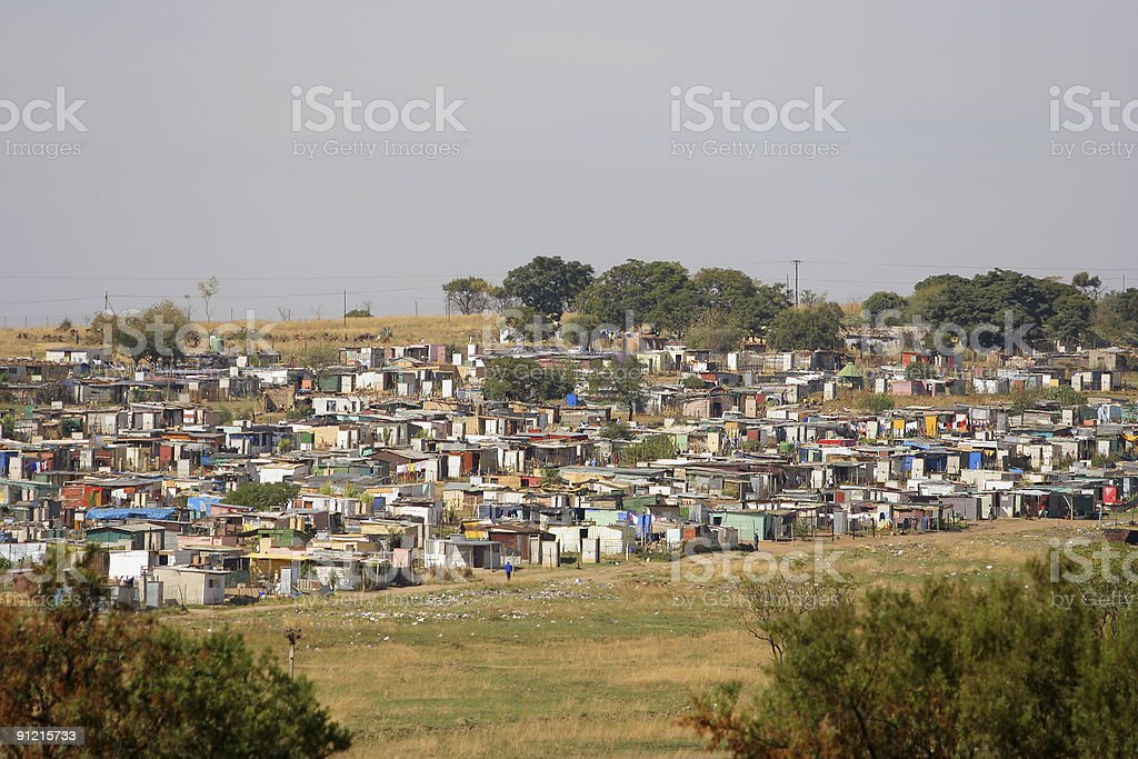 Squatter Camp, Johannesburg, South Africa stock photo