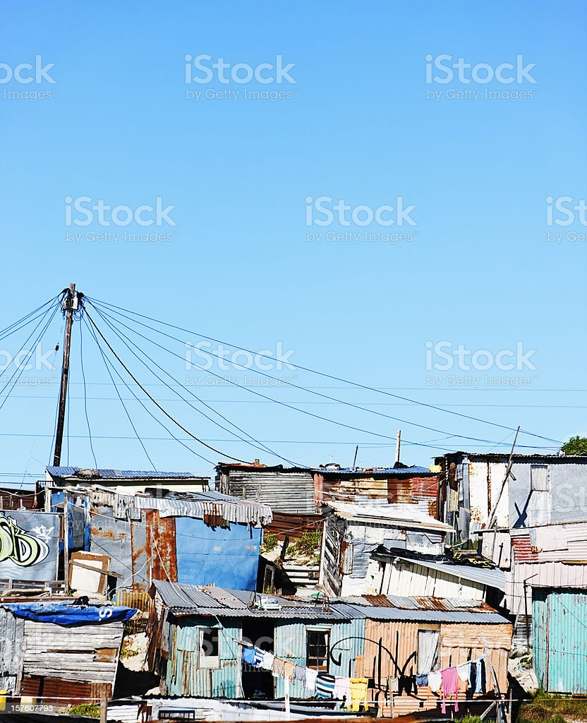Squatter camp near Cape Town royalty-free stock photo