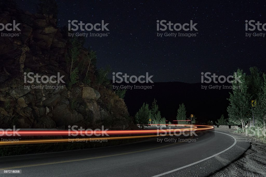 Squaw Pass at Night stock photo