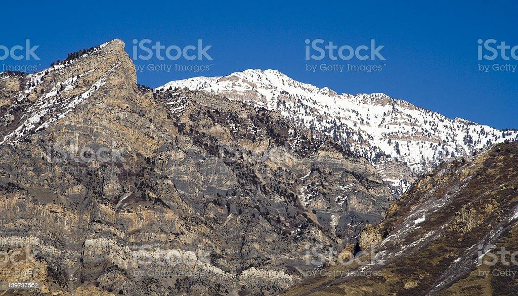 Squaw Peak in Winter royalty-free stock photo