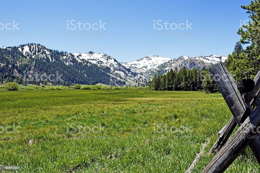 Squaw Valley Lake Tahoe stock photo