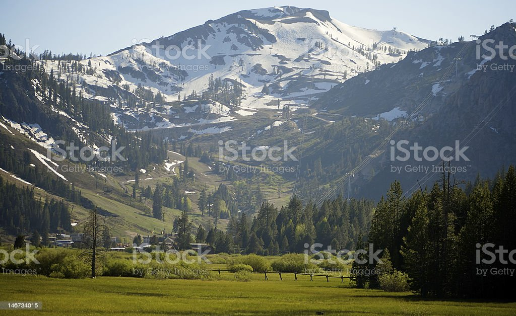 Squaw Valley stock photo