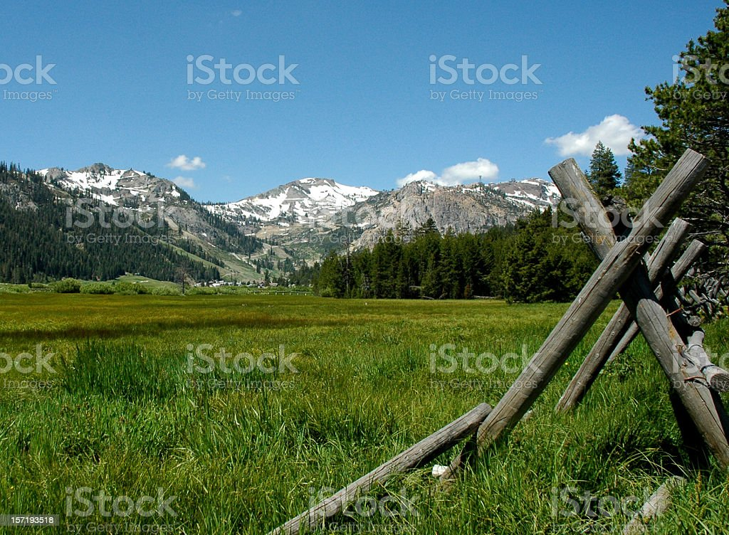 Squaw Valley royalty-free stock photo