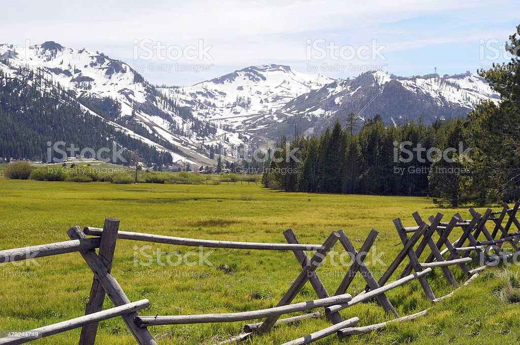 Squaw Valley Scenic stock photo