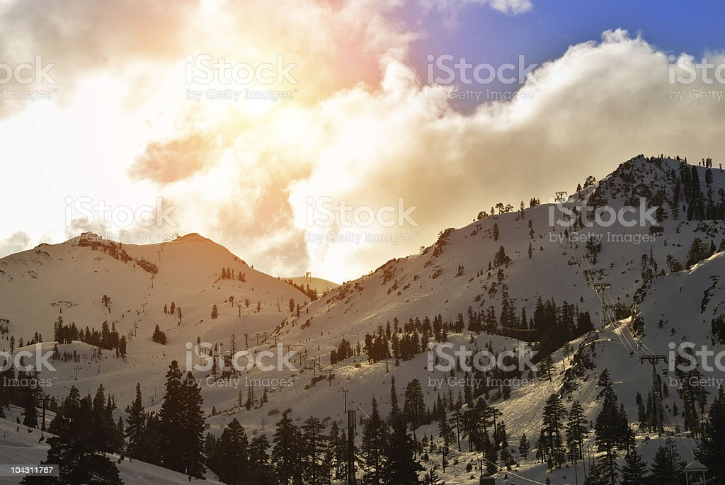 Squaw Valley ski resort stock photo