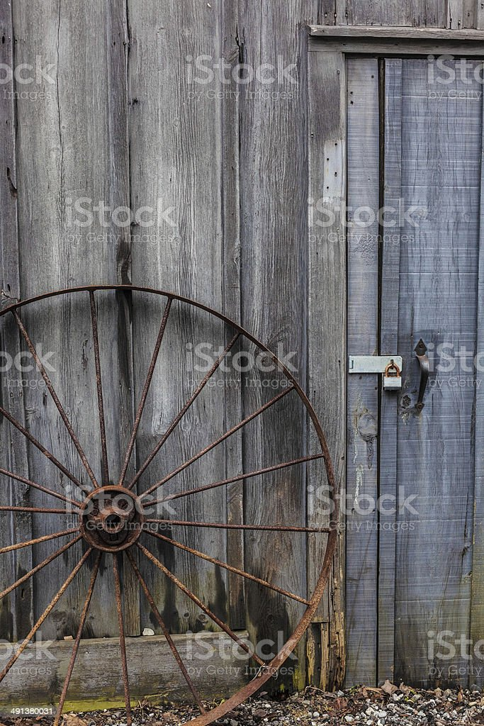 Squeaking wheel gets the oil stock photo
