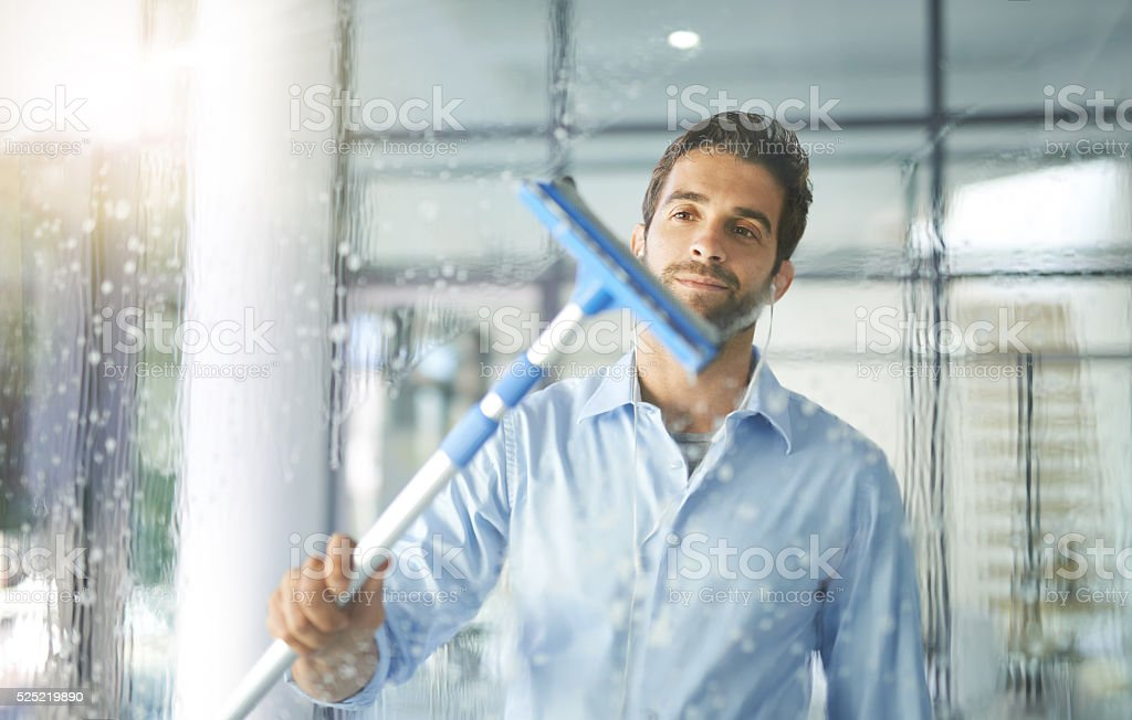 Squeaky clean stock photo