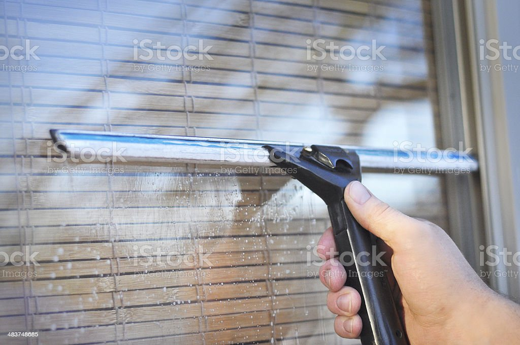 Squeegee Close Up stock photo