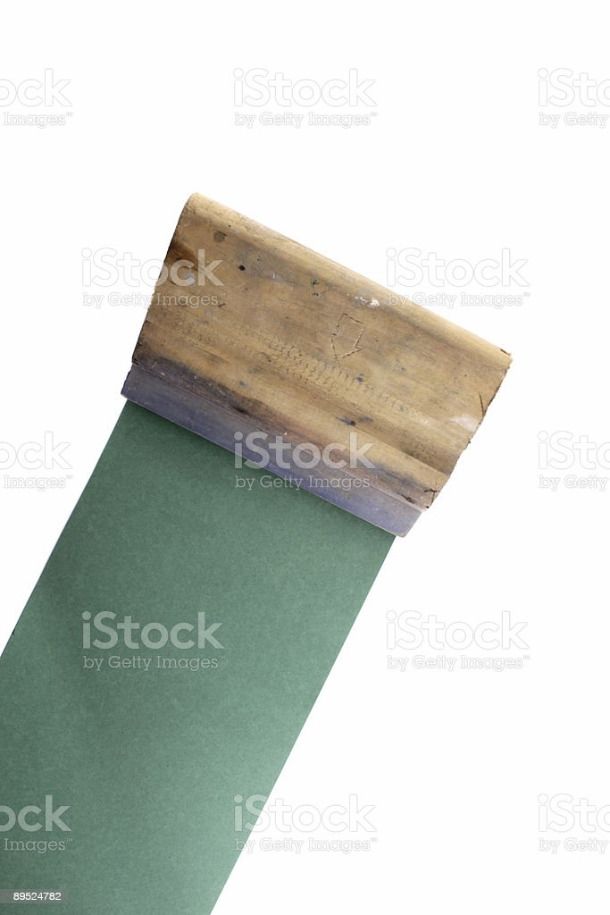 Squeegee from corner stock photo