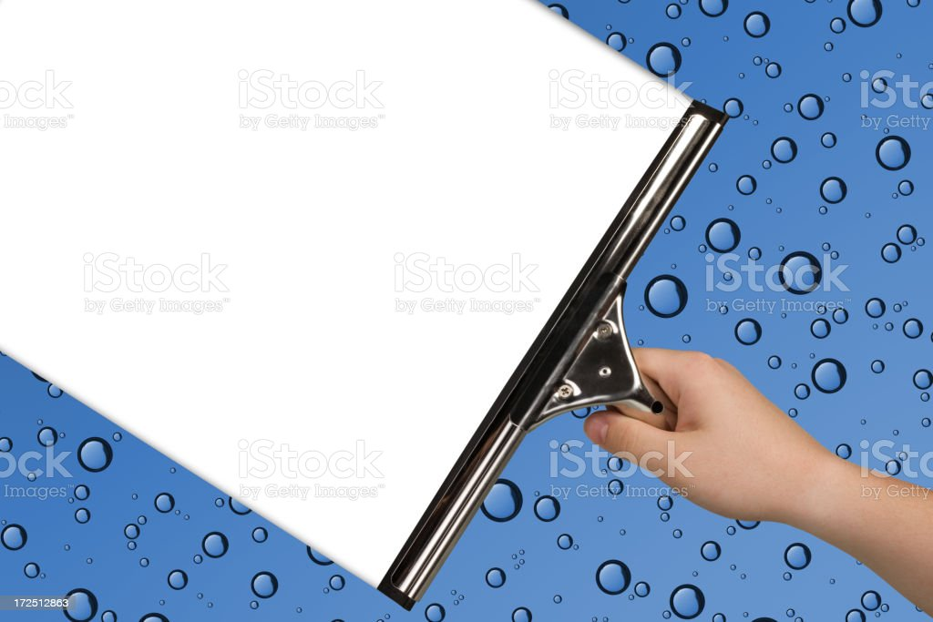 Squeegee It! royalty-free stock photo