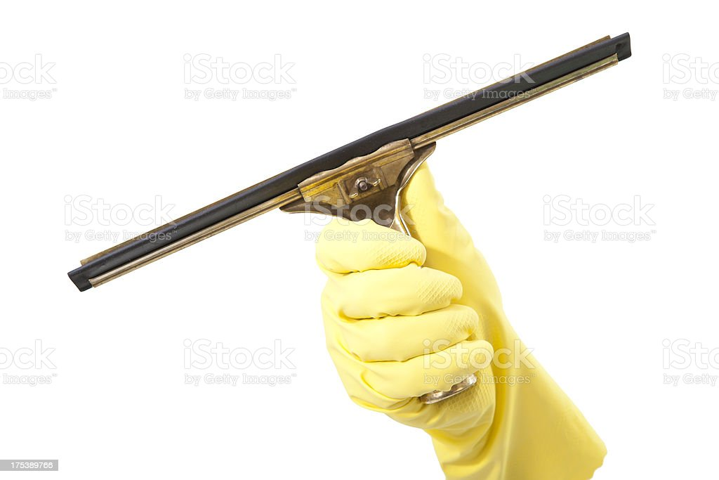 squeegee stock photo