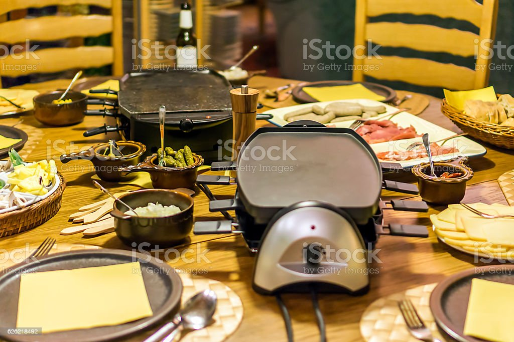 Raclette stock photo