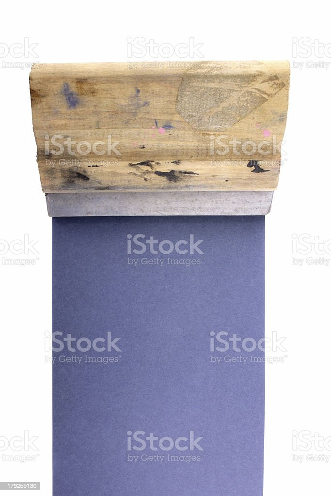 Squeegee vertical stock photo