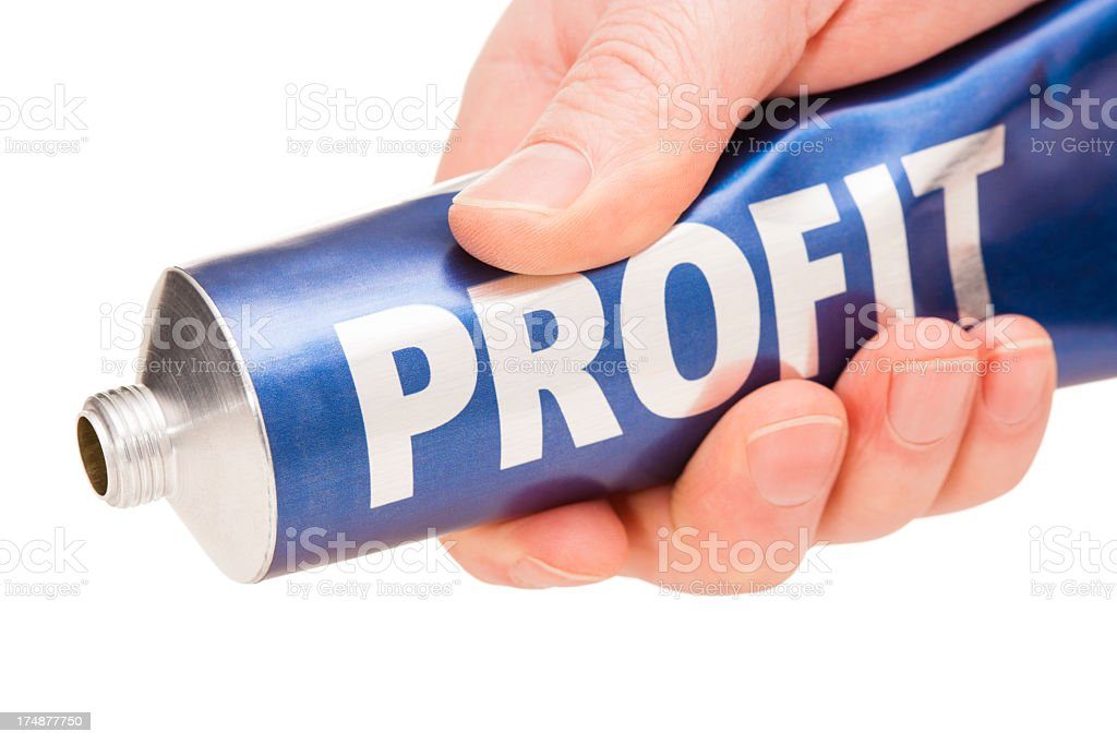 Squeeze on PROFIT royalty-free stock photo