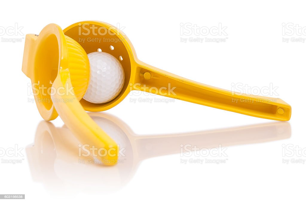 Squeeze your golf stock photo