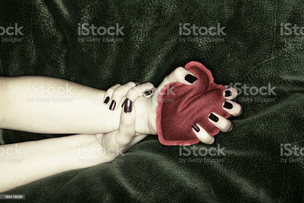 Squeezed Heart stock photo